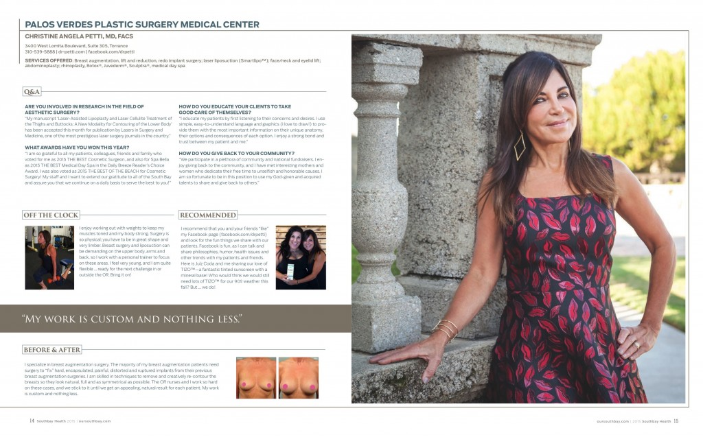 Christine Petti Health Profile December 2015 Southbay Magazine SBM Health profile Dec 2015