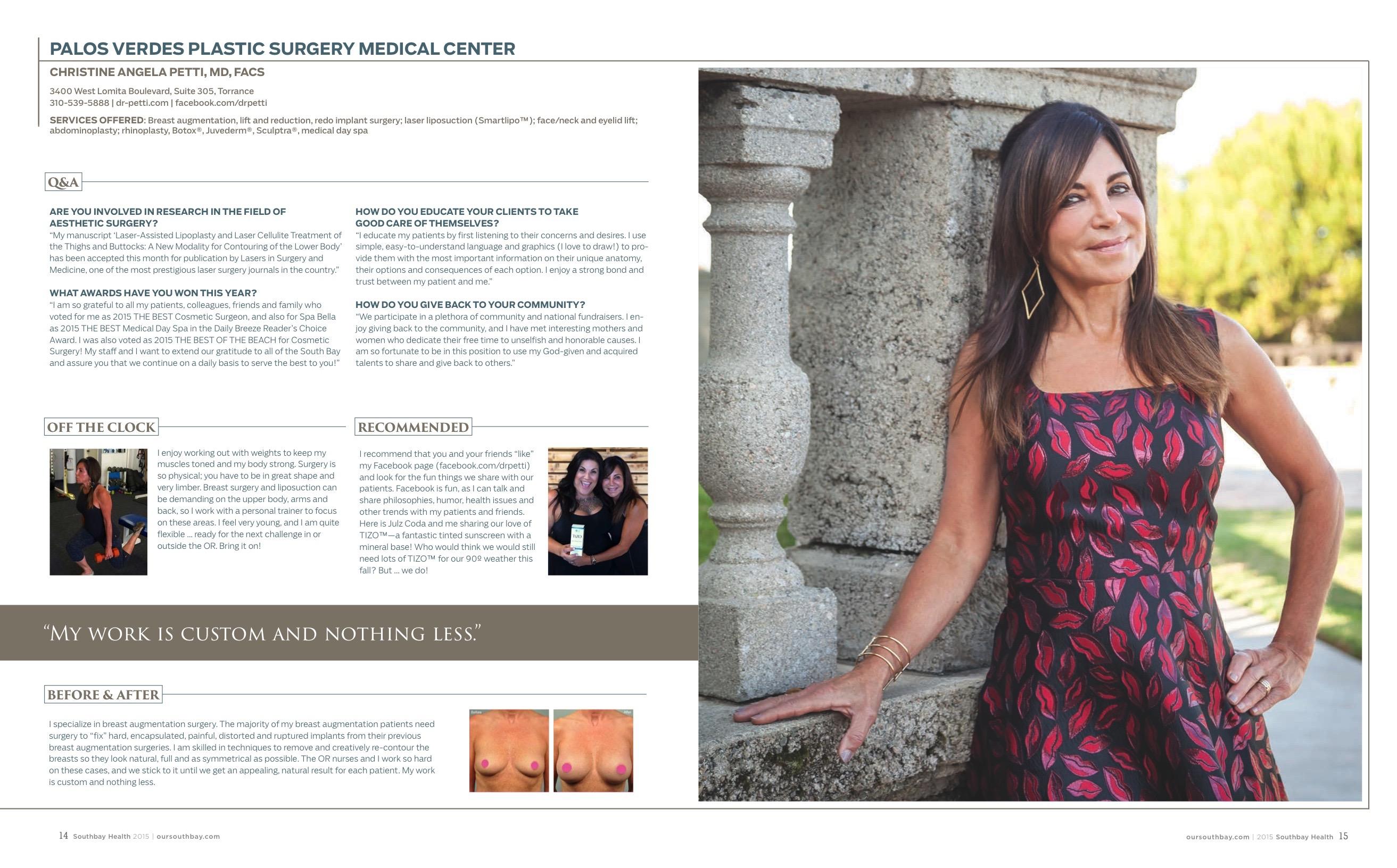 Christine Petti Health Profile December 2015 Southbay Magazine SBM Health profile Dec 2015